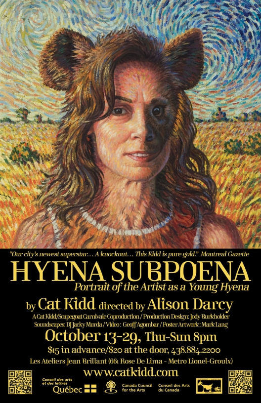 Hyena Subpoena Poster, artwork by Mark Lang